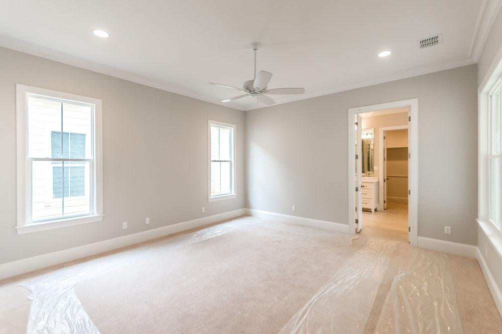 Neutral Master Bedroom with Carpet in Brand New Home For Sale